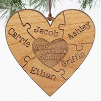 Personalized Puzzle Wood Christmas Ornament -..