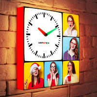Custom Photo Light Clock