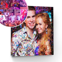 Custom Photo Mosaic Canvas Print