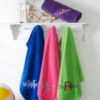 Embroidered Beach Towels - All About Me