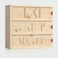 Eat Drink & Be Married Anniversary Wine Box