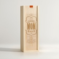 WORLDS GREATEST MOM Wine Box For Mom