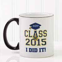 Custom Graduation Ceramic Coffee Mug - Cheers To..