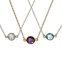 Kris Nations Birthstone Necklaces