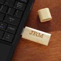 Personalized USB Flash Drive - Engraved Monogram..