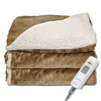 reversible heated throw blanket gift for grandmothers who are always chilly