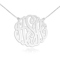 custom monogram necklace gift for daughter