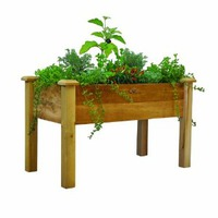 elevated garden bed gift for grandfather who likes to grow stuff