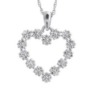 Beautiful Diamond Heart Pendant