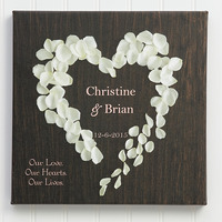 Personalized Canvas Prints - Heart Of Roses
