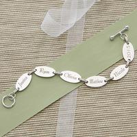 Custom Engraved Bracelet For Mom And Grandma