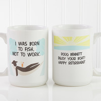 Large Personalized Retirement Coffee Mugs - Im..