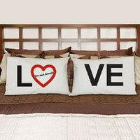 Love Personalized Pillowcase Set