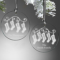Personalized Ornaments - Family Christmas..