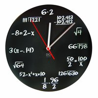 Mathematics Pop Quiz Clock